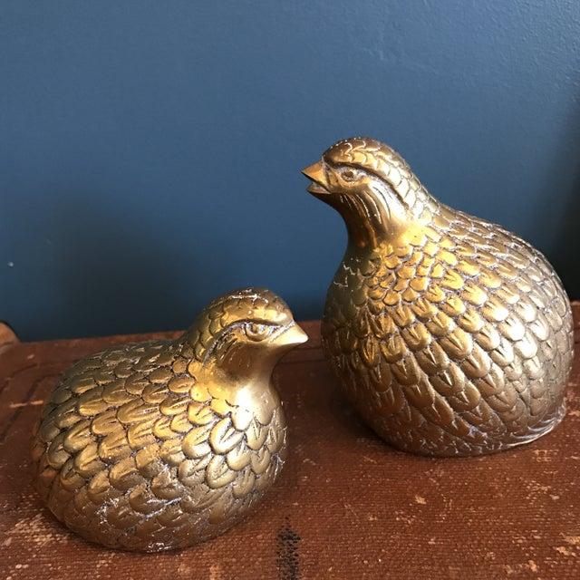 Brass Quails - A Pair - Image 3 of 6
