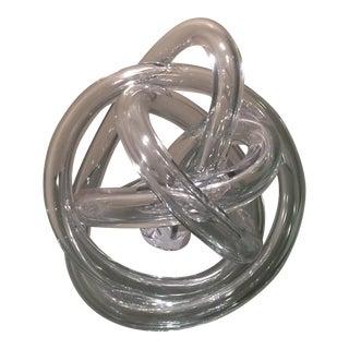 Ethan Allen Czech Glass Sculpture