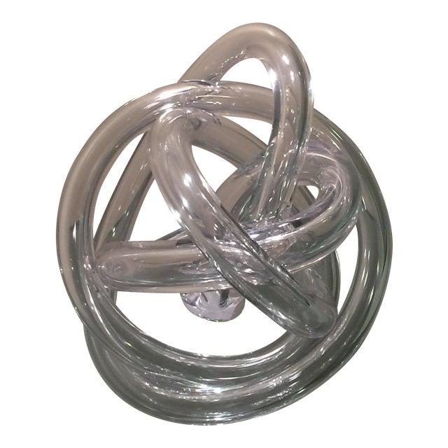 Ethan Allen Czech Glass Sculpture - Image 1 of 5