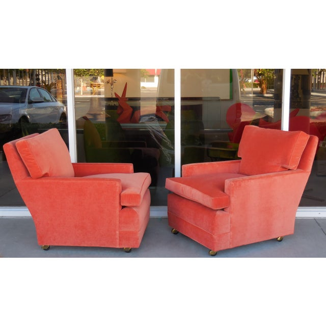 Image of Pair of Tangerine Club Chairs