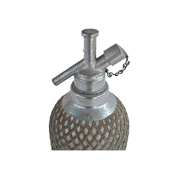 Vintage Seltzer Bottle With Wire Mesh - Image 3 of 4