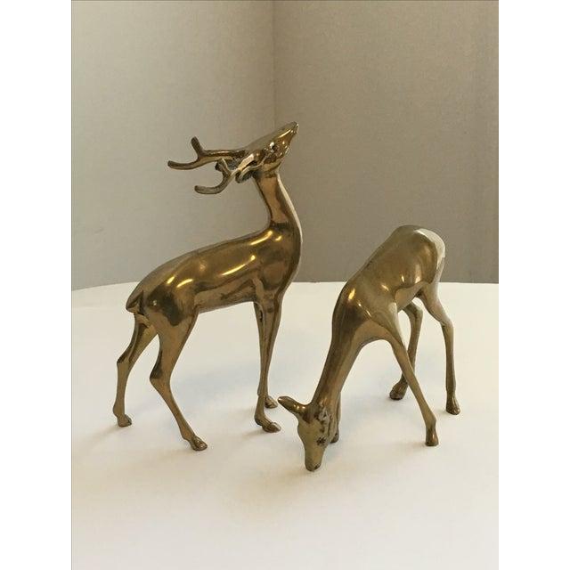 Brass Deer Figurines - A Pair - Image 3 of 7
