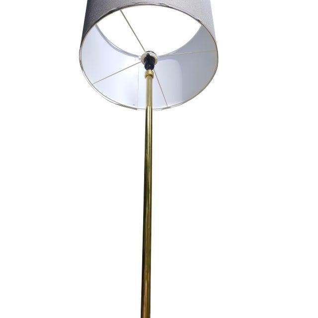 Mid Century Modern BrassTripod Floor Lamp in the Manner of Paul McCobb - Image 6 of 6