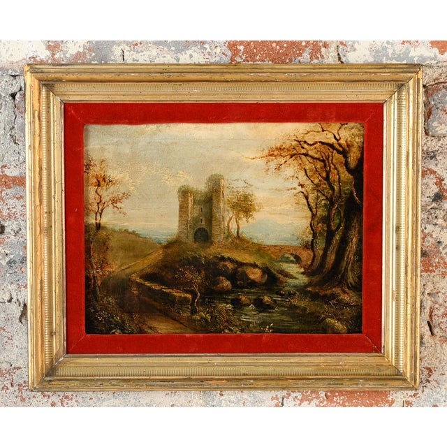18th-C. Castle Ruins Oil Painting - Image 2 of 9