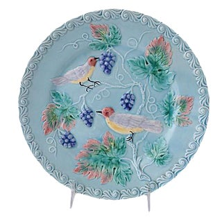 Majolica Plate with Birds