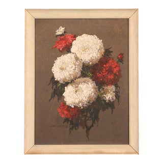Stephan Fedorovic Kalesnikoff Still Life With Flowers Oil Painting, Circa 1910's