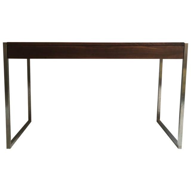 Room & Board Basis Walnut & Steel Desk - Image 1 of 5