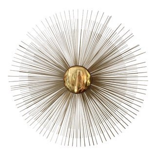 Curtis Jere Brass Sunburst Wall Sculpture