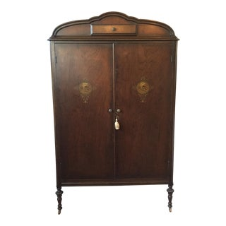 Antique Mahogany Armoire Media Cabinet
