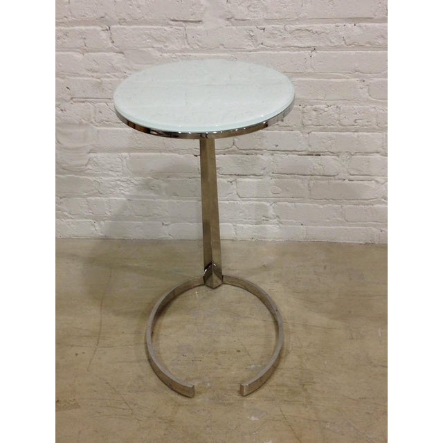 Contemporary Chrome C-Base Side Table - Image 3 of 4