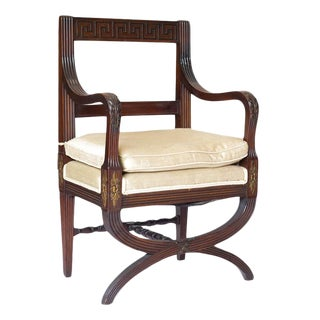 English Mahogany Hall Chair