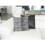 Image of Black & White Leopard Print Pillow