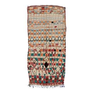 Vintage Berber Moroccan Azilal Rug, 4'7 x 9'4