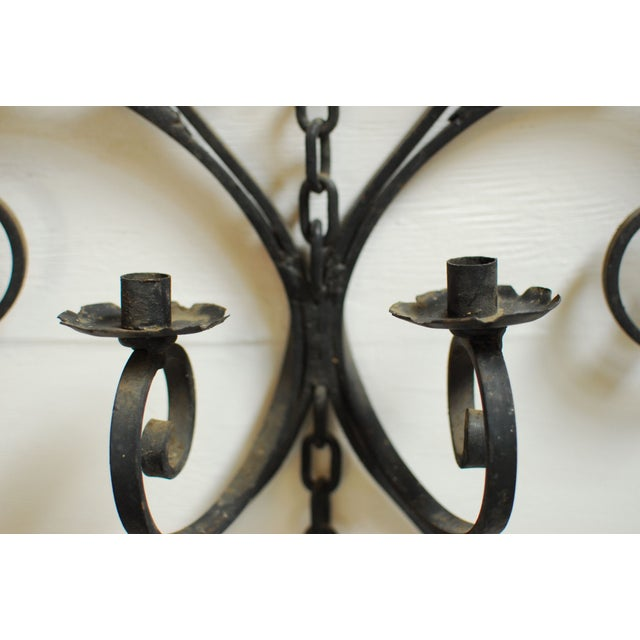 Wrought Iron Wall Candleholder - Image 3 of 5
