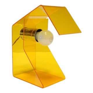 1970s Yellow Plastic Desk Lamp