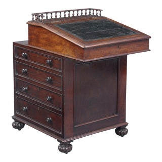 English Antique Late Regency Period Davenport Desk