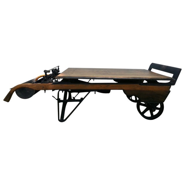 Antique Grain Scale Coffee Table - Image 1 of 7
