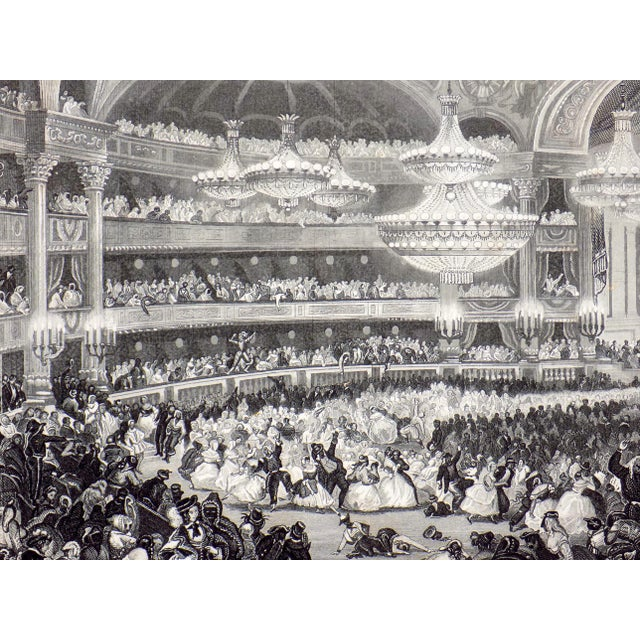 """""""The Opera House in Paris"""" 1855 Engraving - Image 3 of 6"""