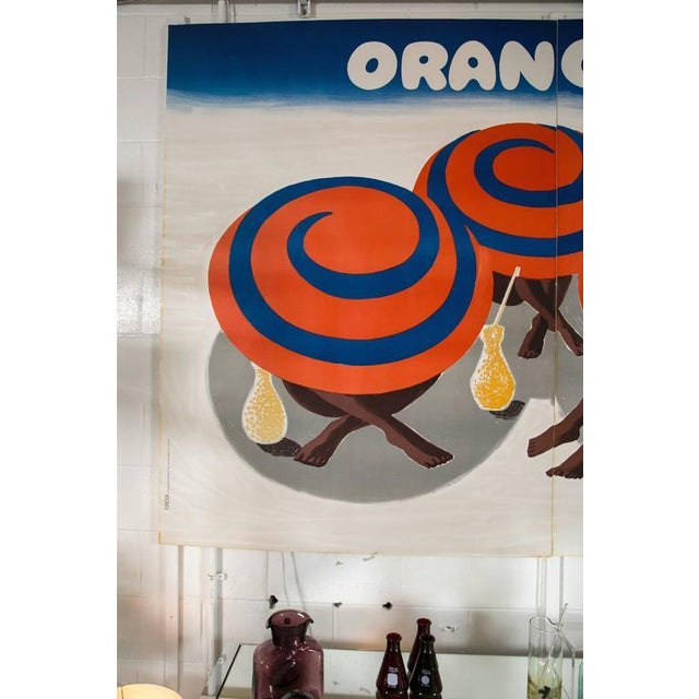 Vintage Orangina Advertisement Poster by Bernard Villemot - Image 2 of 8