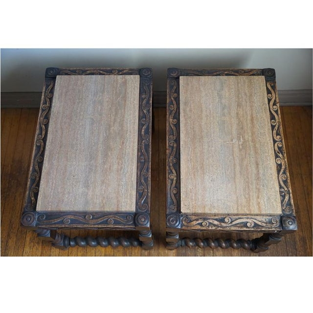 Pair 19th Century Jacobean End Tables - Image 7 of 10