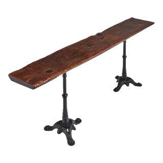 17th Century Walnut Plank Console Table