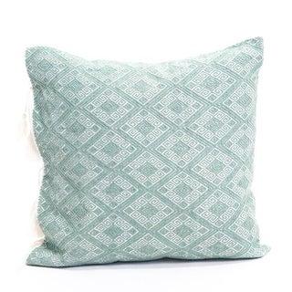 "Sage Green Diamond Handwoven Pillow - 18""x18"""