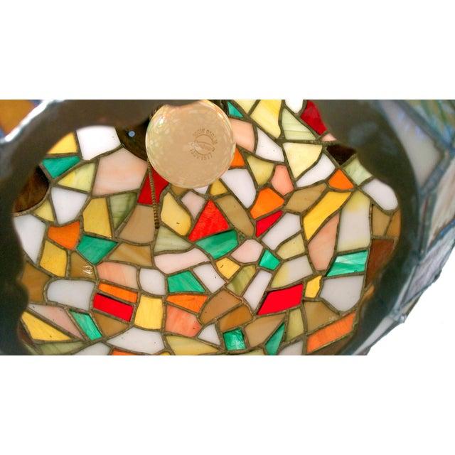 Mid-Century Mosaic Globe Pendant Lamp - Image 5 of 8
