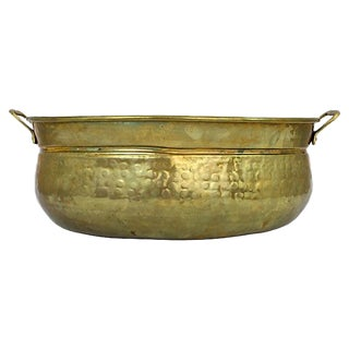 Hammered Brass Cachepot