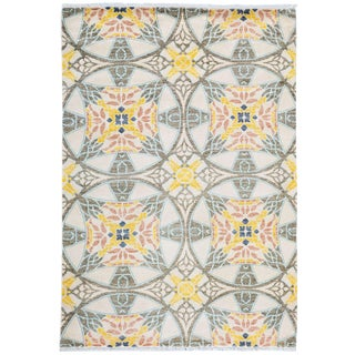 """Suzani, Hand Knotted Area Rug - 4' 1"""" x 6' 1"""""""