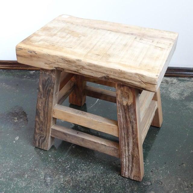 Reclaimed Wood Slab Stool Chairish