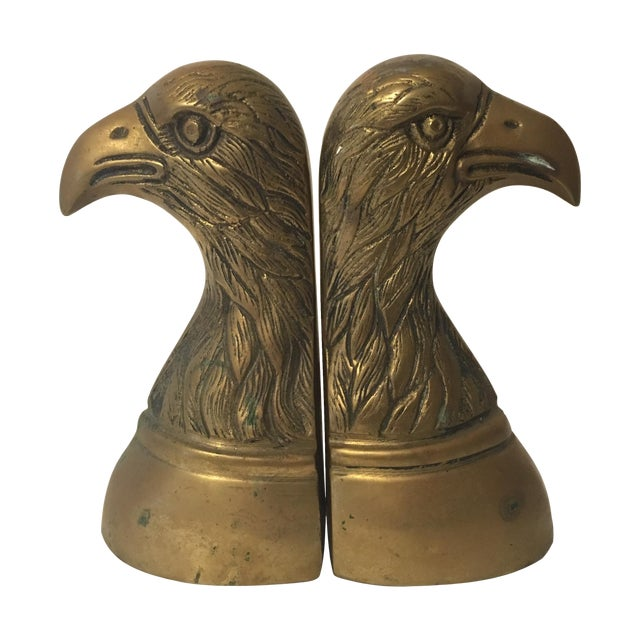 Brass Eagle Bookends - A Pair - Image 1 of 6