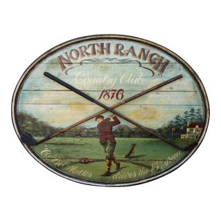 Antique Painted Golf Sign