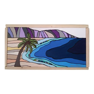 """Beach in Hawaii I"" Original Block Art by Kris Gould"