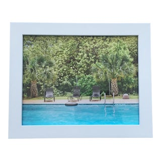 """""""The Pool Opens at 10am"""" Framed Photograph"""