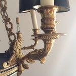 Image of Neoclassical Brass Twelve-Light Chandelier