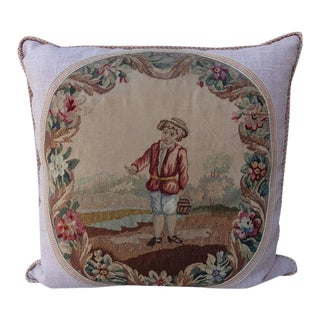 19th Century French Aubusson Pillows by Melissa Levinson - A Pair