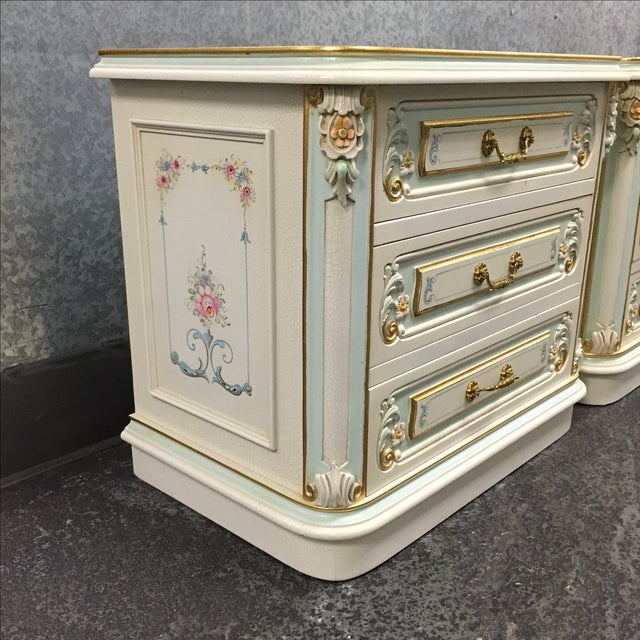 hand painted nightstands pair chairish