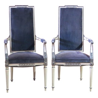 Regency Style Cream Upholstered Side Chairs- A Pair
