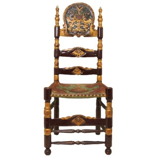 Vintage Spanish Colonial Ladderback Chair
