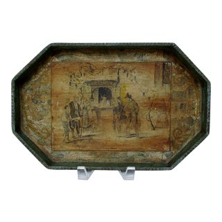 Tole Tray with Decoupage Image