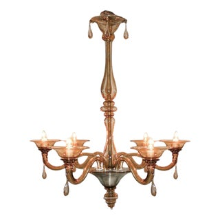 Smokey Murano Glass Chandelier
