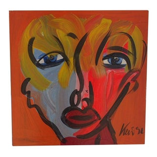 Peter Keil Abstract Portrait on Masonite