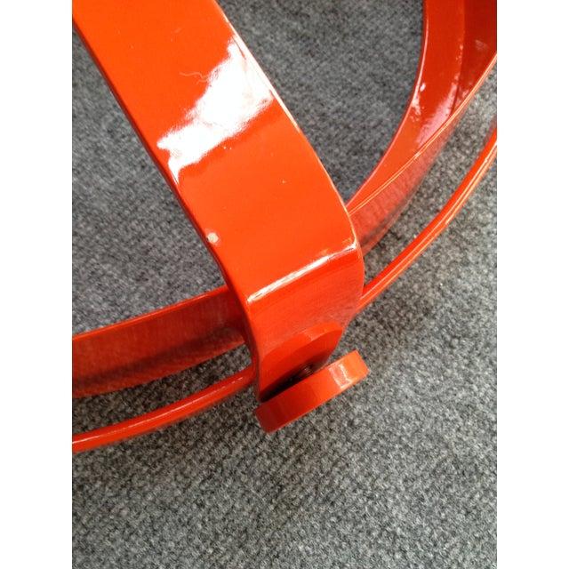 Image of Vintage Orange Industrial Pendant Lamp