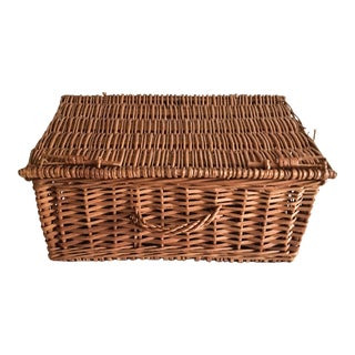 Vintage Lidded Basket Hamper