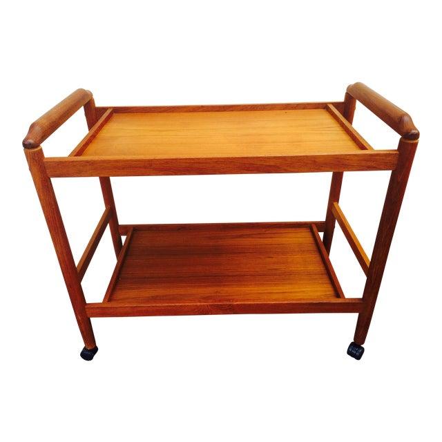 Dyrlund Style Mid-Century Teak Bar Cart - Image 1 of 8