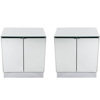 Hollywood Regency Mirrored Nightstands by Ello - A Pair