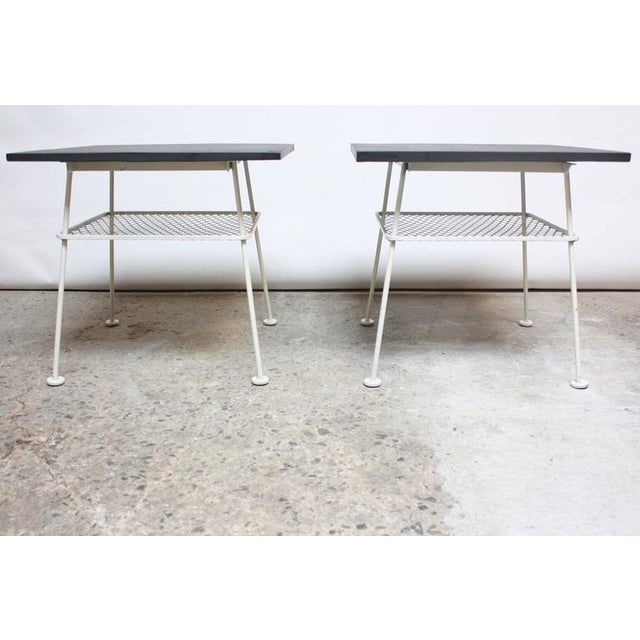 Image of Pair of Slate and Iron Tables by Russell Woodard