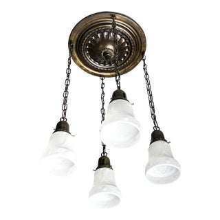 Embossed Flush Mount Light Fixture (4-Light)
