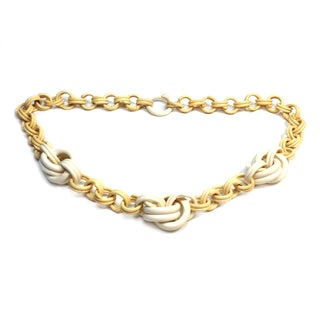 Celluloid Knot & Chain Necklace