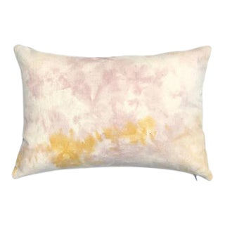 "Marbled Blush Pink Lumbar Pillow - 14"" x 20"""